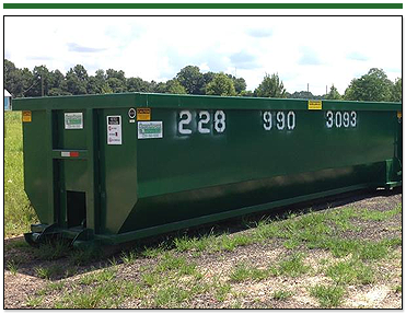 New Green Dumpster